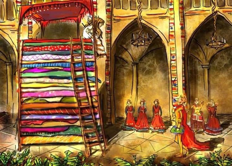 Công chúa hạt đậu là chuyện cố tích nổi tiếng của Andersen. Ảnh minh họa.