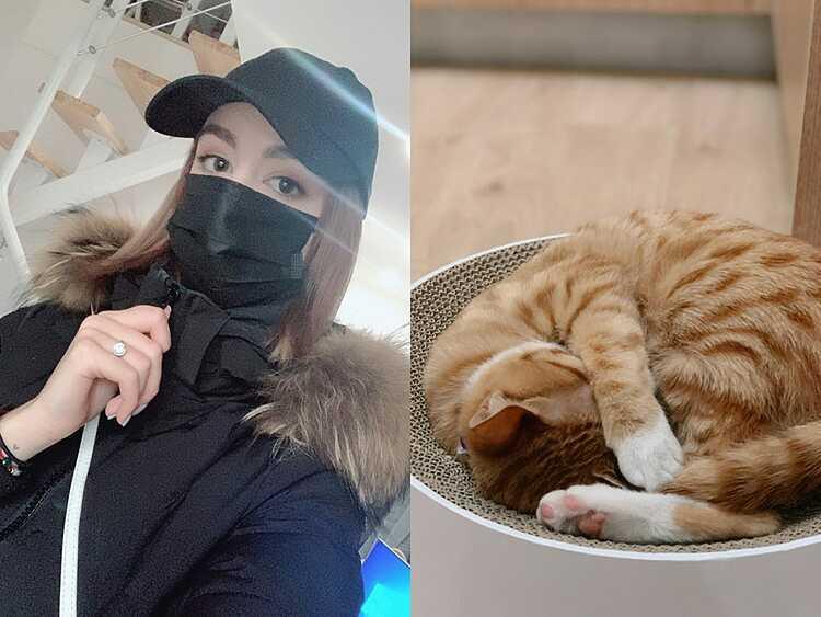 Kristina và con mèo Kitya. Ảnh: Kristina Shramko.