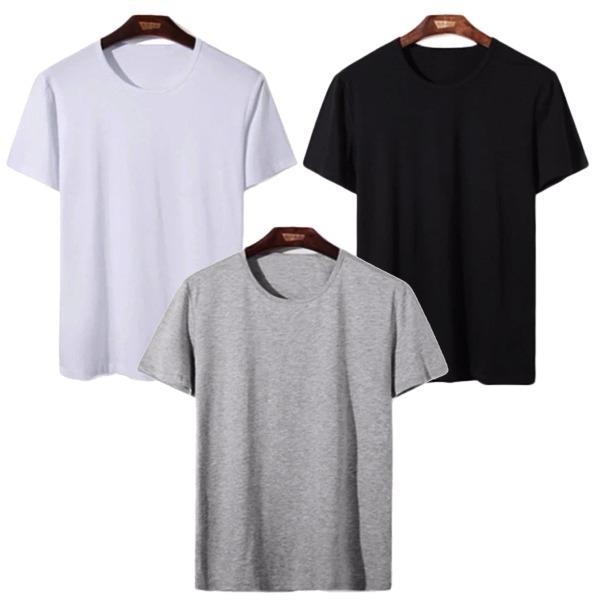 Áo thun nam cổ tròn có chất liệu thoáng mát với 65% cotton. Kiểu dáng cơ bản, đơn giản, có thể phối với nhiều kiểu quần, áo khác nhau... Sản phẩm có 3 màu trắng, đen, xám.