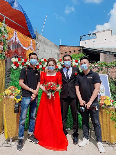 Một đám cưới tổ chức ngày 2/2 ở thị xã An Nhơn, tỉnh Bình Định. Ảnh: Hà Nhân.