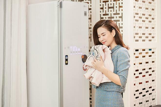 LG Styler giúp Đan Lê chăm sóc cho cả gia đình.