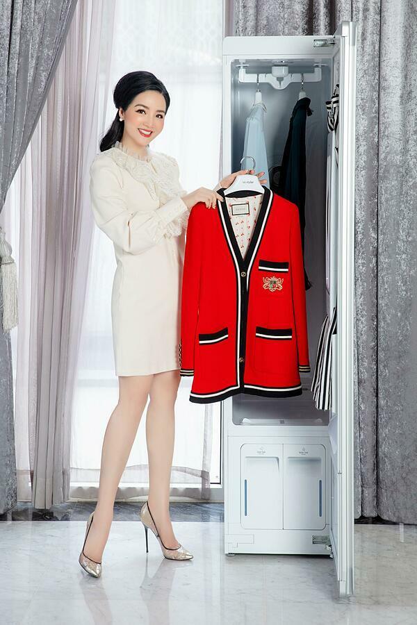 Hoa hậu Đền Hùng Giáng My tin tưởng giao phó những bộ cánh đắt tiền cho LG Styler.