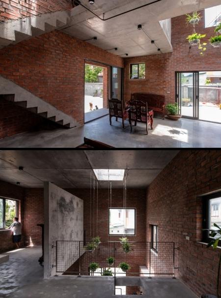 Bên trong một công trình nhà ở do kiến trúc sư Hà thiết kế. Ảnh: Nguyễn Tiến Thành.