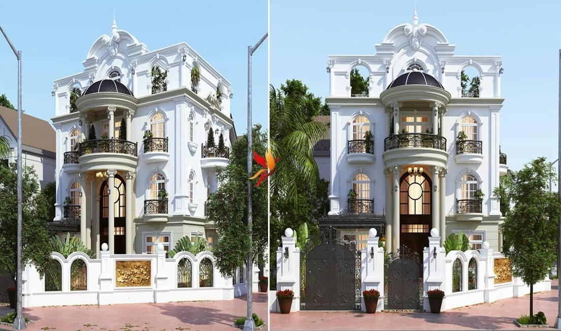 Hội Kiến Trúc thi công thiết kế kiến trúc tân cổ điển cho nhiều nhà.