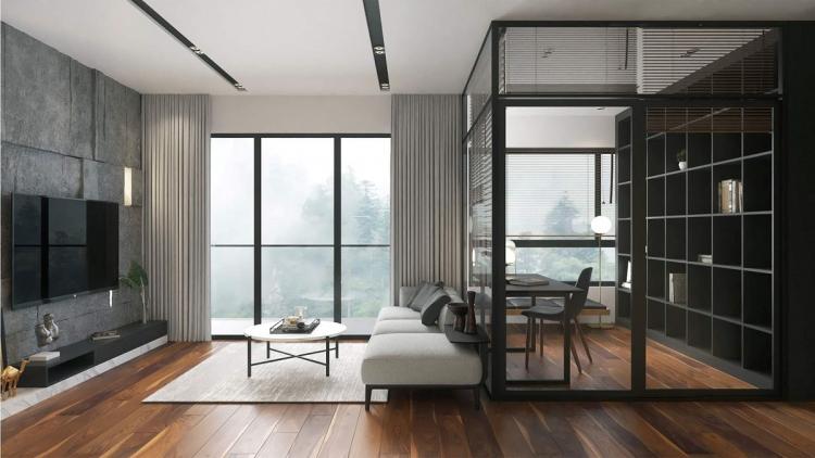Hội kiến trúc thiết kế phong cách hiện đại tối giản cho khách hàng ở Vinhome Smart.