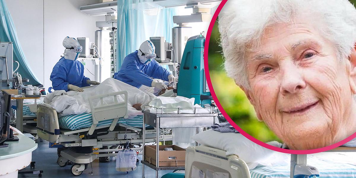 Cụ bàSuzanne Hoylaerts đã từ chối sử dụng máy thở để dành cho những bệnh nhân trẻ hơn. Ảnh: Daily Mail.