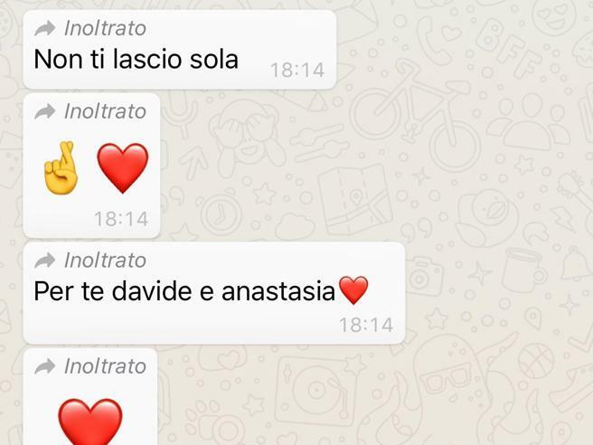 Tin nhắn của Mattia cho mẹ, hứa sẽ không bỏ mẹ lại một mình, trước khi được đặt nội khí quản. Ảnh:Corriere.
