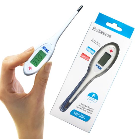 Nhiệt kế điện tử đầu cứng FDK BT-A12B sử dụng công nghệ cảm biến chạm 8s là có kết quả, bh 2 năm 210.000đ 185.000đ (-12%)  Nhiệt kế điện tử FDK BT-A12B, dễ dùng và đảm bảo vệ sinh. Đây là sản phẩm lý tưởng cho việc chăm sóc sức khỏe gia đình bạn. Sản phẩm có thể đo ở 3 vị trí khác nhau nhưng ngậm trong miệng, nách, và hậu môn. Cho kết quả nhanh và chính xác.  Nhiệt kế FDK BT-A12B, là sản phẩm đo thân nhiệt của hãng FDK Đài Loan, được thiết kế nhỏ gọn, cho kết quả nhanh và chính xác sau 8 giây. Nhiệt kế BT-A12B sử dụng phù hợp cho mọi lứa tuổi, mọi lúc, mọi nơi.  Nhiệt kế đầu mềm BT-A12B là vật dụng hữu ích không thể thiếu trong tủ thuốc của mỗi gia đình, đặc biệt là các gia đình có người già và trẻ nhỏ (những đối tượng có sức đề kháng yếu hơn người bình thường).  Nhiệt kế điện tử được dùng để đo và theo dõi nhiệt độ cơ thể người bởi bác sĩ hoặc người tiêu dùng trong bệnh viện hoặc ở nhà.  Màn hình LCD lớn, dễ đọc kết quả. Có chức năng cảnh báo sốt kèm theo màn hình chuyển sang màu xanh /đỏ.