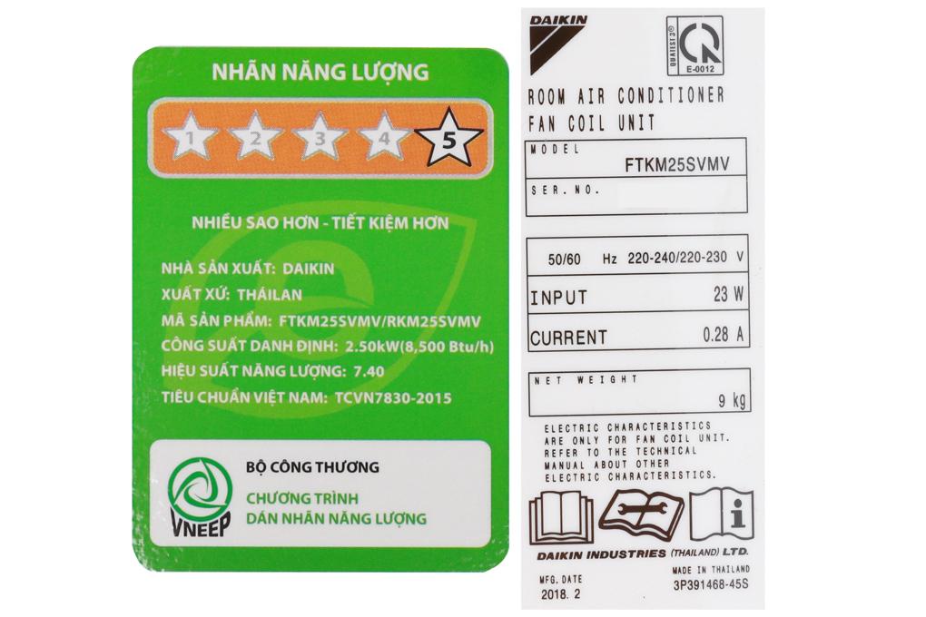 Nhãn 5 sao làcấp độ sử dụng điện năng tiết kiệm nhất.