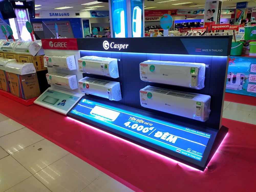 Điều hòa Casper sở hữu trang bị công nghệ i-Saving tiết kiệm điện, cùng cơ chế vận hành thông minh.