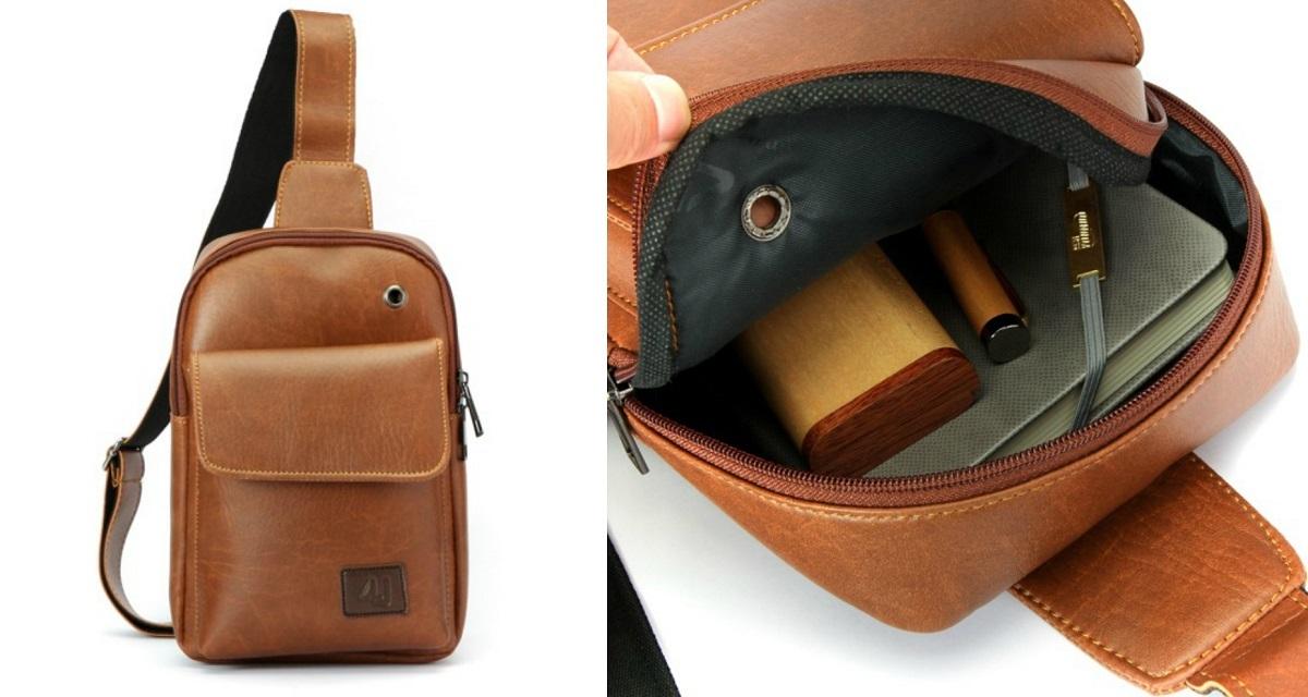 Túi đeo trước ngực thời trang BA408 có giá 129.000 đồng, ưu đãi 32% so với giá gốc. Túi làm từ da tổng hợp bền đẹp, có hai màu đen, nâu cho phái mạnh thoải mái lựa chọn. Dây đeo chắc chắn, chịu lực tốt. Đường may tỉ mỉ, chắc chắn với khóa kéo không gỉ, giữ đồ vật không bị rơi ra ngoài. Túi có một ngăn chính và ngăn phụ bên ngoài, tiện lợi cất giữ những vật dụng nhỏ, dễ thất lạc như chìa khóa, ví tiền, thẻ, giấy tờ tùy thân...