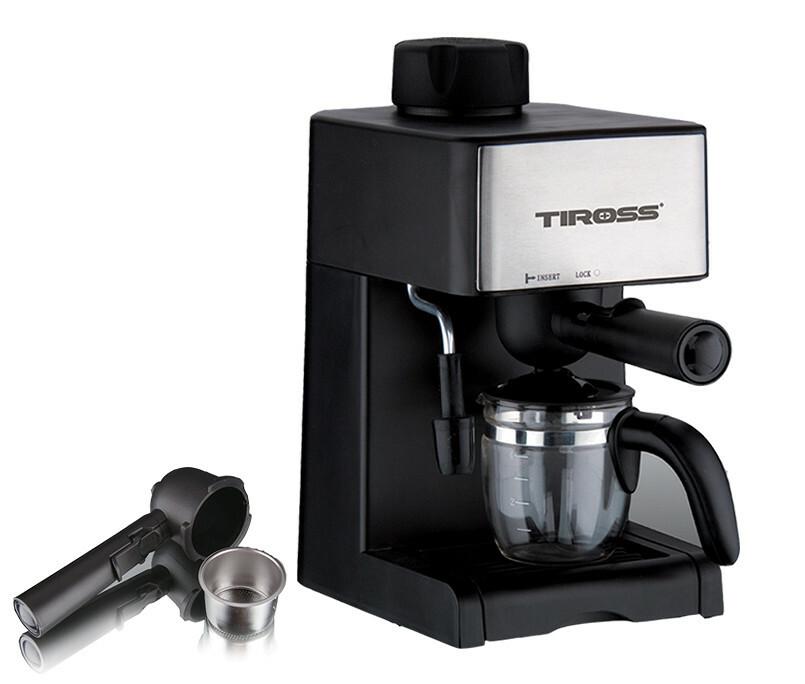 Máy pha cà phê Tiross TS621 có thể pha được 1 đến 4 tách cà phê trong 1 lần sử dụng.Bên cạnh chức năng pha espresso, cà phê thường, máy được tích hợp vòi phun để tạo bọt sữa cho cappuccino.Bạn có thể đựng cà phê trực tiếp vào cốc hay bình chứa thủy tinh đi kèm máy.Màng lọc bằng inox dễ dàng vệ sinh sau khi sử dụng.Hệ thống chống nhỏ giọt giúp giữ vệ sinh máy khi bình đựng cafe đượcra ngoài trong lúc pha. Sản phẩm đang khuyến mại 41%, còn 902.000 đồng.