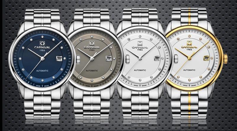 Đồng hồ nam Carnival G66802.301.616 có giá ưu đãi đến 50% trên Shop VnExpress, giảm còn 3,7 triệu đồng (giá gốc 7,4 triệu đồng). Sản phẩm thuộc dòng đồng hồ máy cơ (automatic). Thiết kế sang trọng với vỏ máy và dây đeo làm từ hợp kim thép không gỉ, bốn màu sắc trang nhã cho phái mạnh thoải mái lựa chọn. Sản phẩm được bảo hành hai năm.