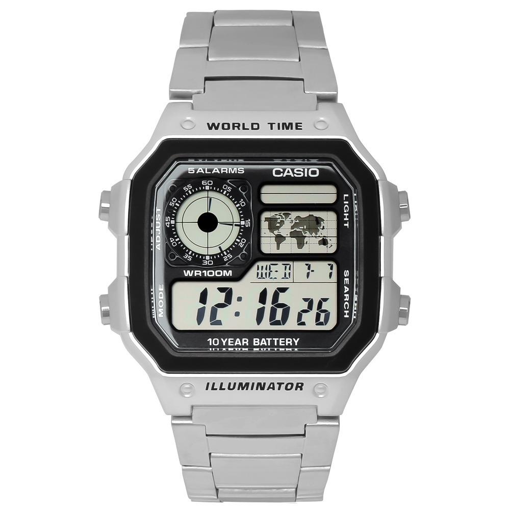 Đồng hồ nam Casio LongTime AE-1200WHD-1AVDF thích hợp với các chàng cá tính, trẻ trung, năng động. Chế độ hiển thị giờ bằng mặt đồng hồ điện tử tiện lợi, có thể xem thứ, ngày, tháng... Sản phẩm còn tích hợp khả năng điều chỉnh giờ, bấm giờ, báo thức và giờ thế giới. Đèn hỗ trợ xem giờ khi thiếu ánh sáng nằm bên hông giúp xem được giờ ngay cả khi trong đêm tối hoặc không đủ ánh sáng. Sản phẩm có giá 1,059 triệu đồng, giảm 32% so với giá gốc.