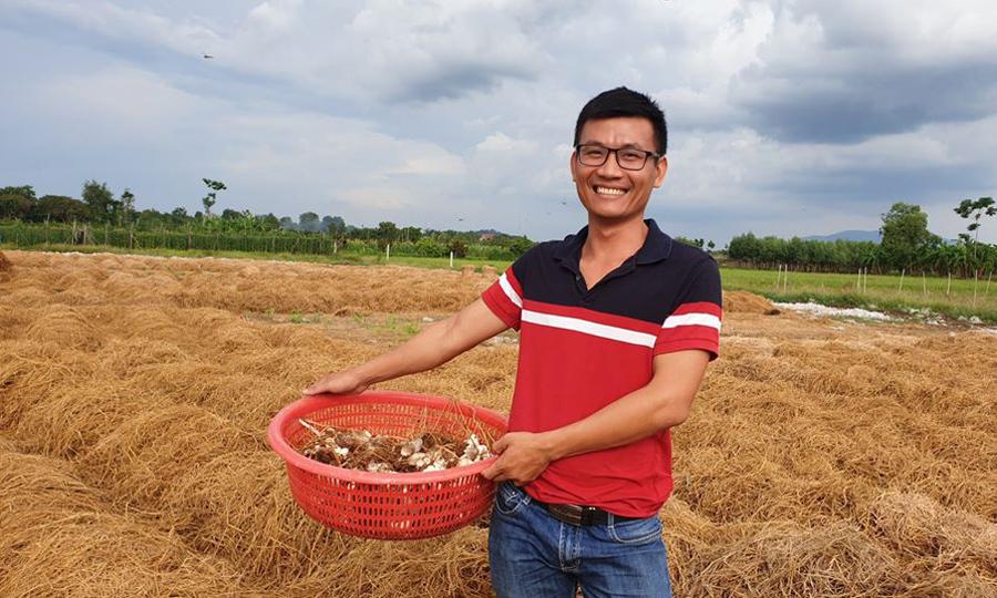 Nguyễn Anh Võ hiện startup với công ty nấm. Ảnh: Nhân vật cung cấp.