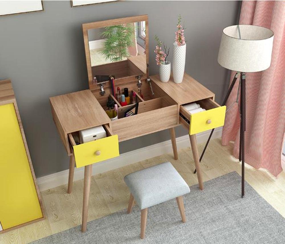 Bàn trang điểm có thể làm việc, thích hợp mọi không gian tại nhà, spa, salon hay shop.