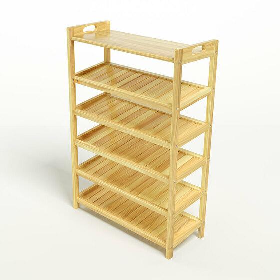 Kệ dép 6 tầng ván IV673 gỗ cao su màu tự nhiên giảm 35% còn 1,17 triệu đồng, có kích thước 73 x 30 x 110 cm. Tỷ lệ giữa các cạnh được tính toán cân đối, hợp lý giúp kết cấu luôn vững chắc, an toàn. Khoảng cách từ sàn nhà tới kệ cuối cùng cách 5cm giúp người dùng dễ dàng quét dọn vệ sinh.Các tầng kệ được thiết kế xuôi theo chiều đặt giầy với khoảng cách trên 20 cm, dễ dàng để các loại giầy dép kể cả giầy cao gót mà không lo vướng víu. Viền khung cao hơn mặt nan giúp cố định giầy không bị trượt ra khỏi kệ.