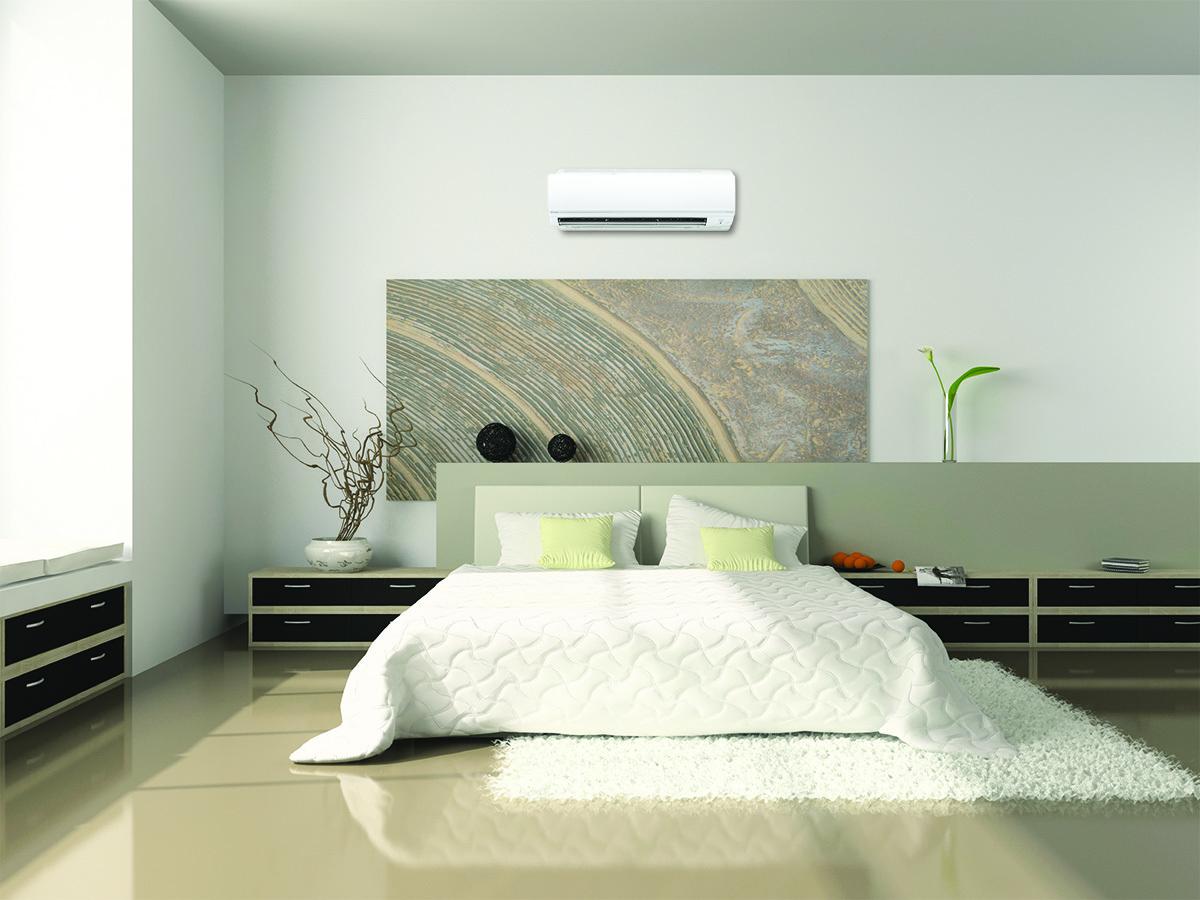 Ảnh; Điều hòa ATKC, FTKC của Daikin được trang bị phin lọc Apatit Titan và phin lọc PM2.5 ( tùy chọn) mang lại không khí trong lành cho phòng ngủ.