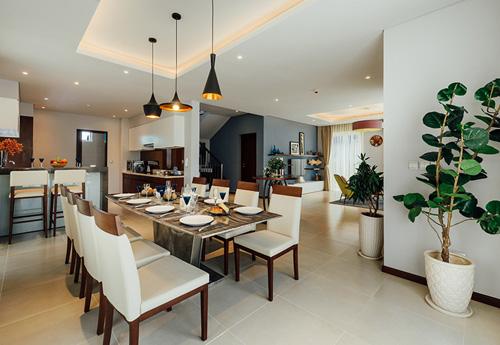 Phòng ăn theo phong cách Âu Mỹ tại Nhà Xinh.