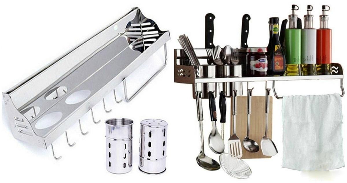 Kệ bếp đa năng Inox Eurolife EL-K1 làm từ chất liệuinox 201 sáng bóng, bền bỉ với thời gian.Thiết bị tháo lắp đơn giản, dễ dàng vệ sinh, tiết kiệm tối đa cho không gian bếp. Sản phẩm có thể dùng đựng gia vị nấu ăn, đũa, muỗng, dụng cụ chế biến nhà bếp, giúp căn bếp gọn gàng hơn. Kệ dài 59 cm, rộng 15 cm và cao 10 cm. Sản phẩm còntích hợp bộ cài dao ngay sau sống kệ, thêm phần tiện dụng và an toàn với mức giá ưu đãi 15%, giảm còn 544.000 đồng.