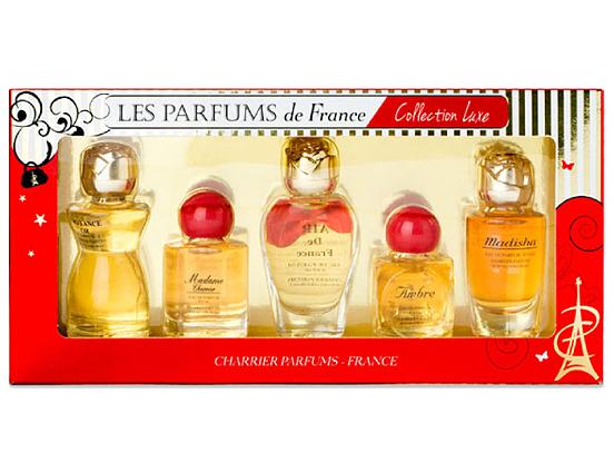 Bộ 5 chai nước hoa nữ Charrier Parfums Collection Luxe - Nhiều màu - Freesize 949.000đ649.000đ(-32%) Nước hoa Air de France 8.5ml, Nước hoa Ambre 10.5ml: Nước hoa Croyance Or 12ml Nước hoa Madame Charrier 9.3ml: Nước hoa Madisha 9.4ml: