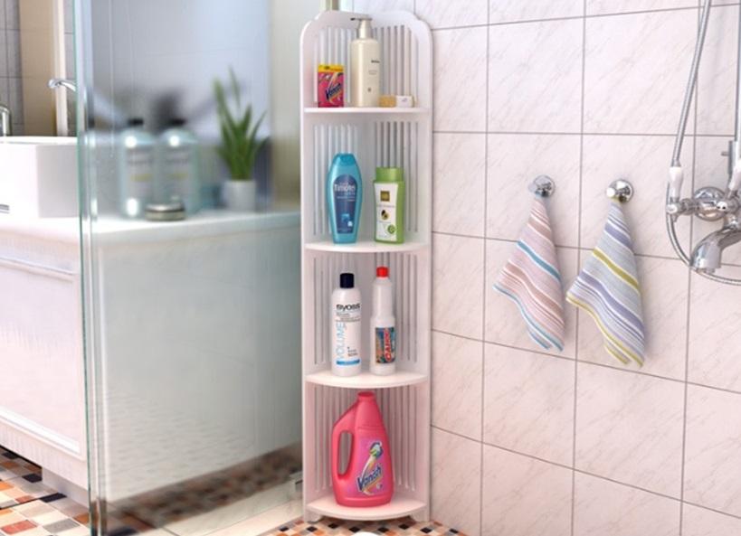 Kệ góc nhà tắm chống nước có giá ưu đãi đến 50%, giảm còn 188.700 đồng (giá gốc 377.400 đồng). Sản phẩm làm từ nhựa composite chống nước tốt, dễ dàng vệ sinh. Kệ gồm 4 tầng, có thể đặt ở bất cứ góc nào trong nhà tắm, giúp tiết kiệm diện tích, sắp xếp vật dụng như sữa tắm, dầu gội và các đồ dùng cá nhân khác ngăn nắp, gọn gàng, thuận tiện cho việc lau chùi, dọn dẹp.