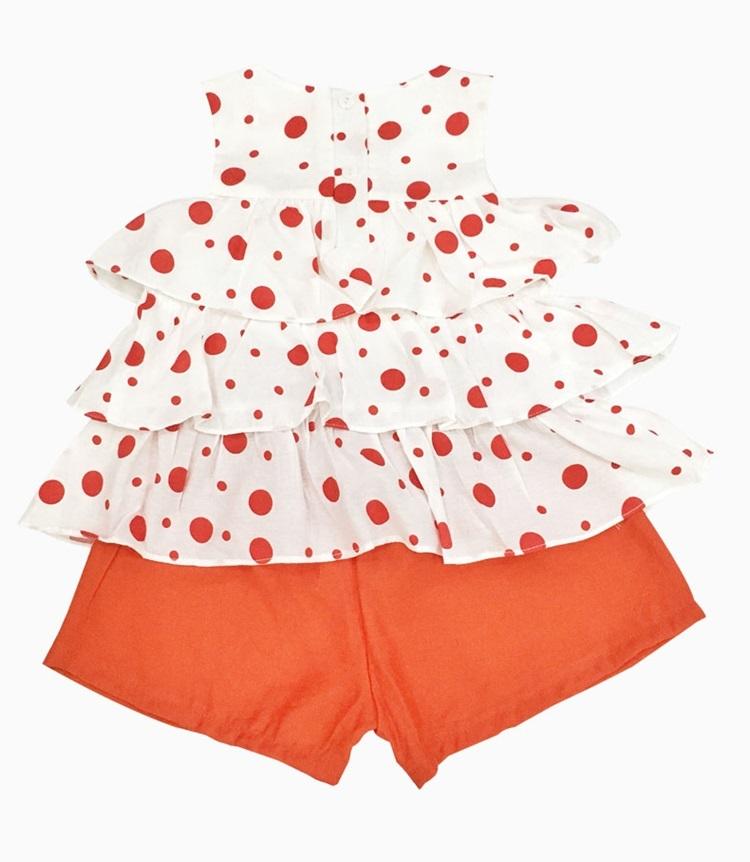 Đồ bộ đũi bé gái ba tầng Vinakids dành cho trẻ 2- 7 tuổi). Trang phụcđang giảm 30%, còn 144.000 đồng (giá gốc207.000 đồng).