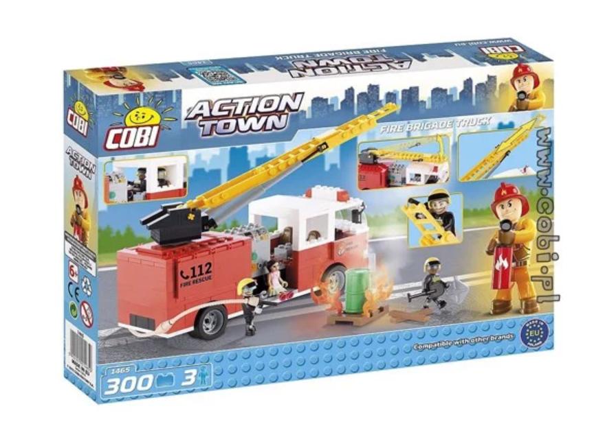 Bộ đồ chơi lắp ráp xe cứu hỏa cao tầng bao gồm 300 mảnh ghép nhựa. Các chi tiết sẽ được ghép thành 1 chiếc xe cứu hỏa cao tầng cùng 2 chú lính cứu hỏa và 1 bé gái bị nạn sẽ giúp bé phát huy trí tưởng tượng và tư duy logic. Sản phẩm dành cho bé từ 6 tuổi trở lên, bố mẹ cũng có thể chơi cùng với bé để tăng gắn kết.