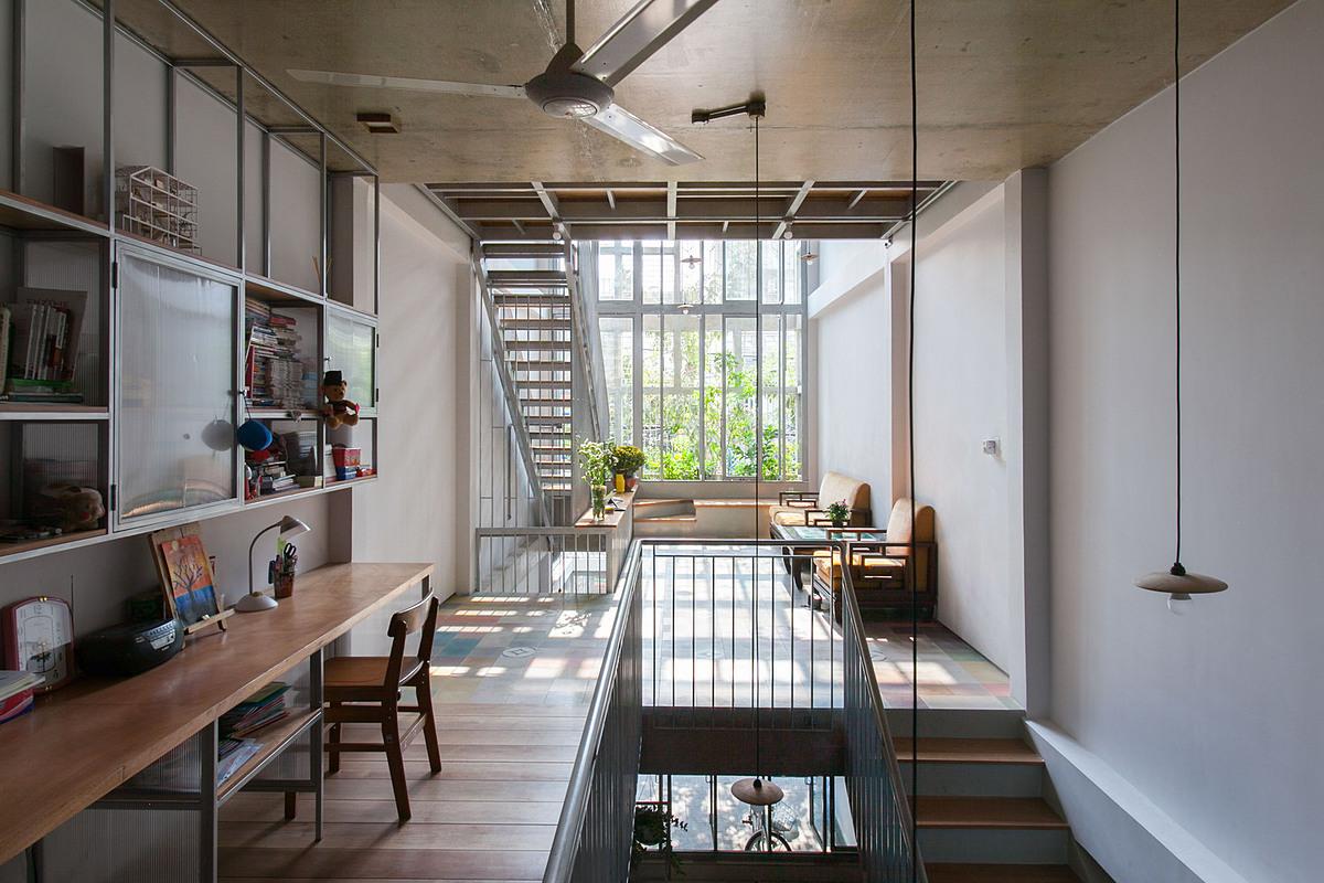 Không gian phòng học và phòng khách. Ảnh: k59 atelier.