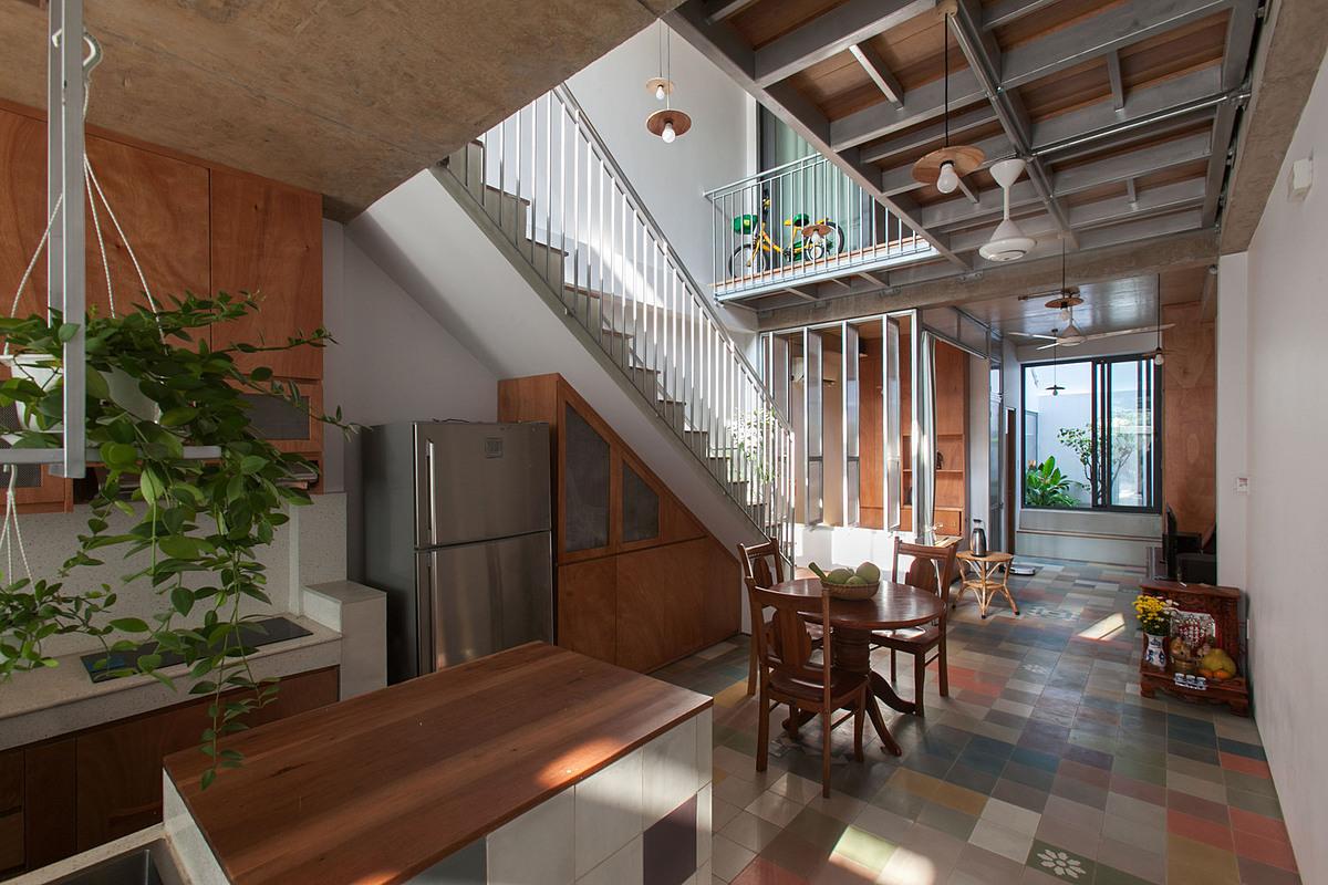 Không gian bếp và phòng ăn. Ảnh: k59 atelier.