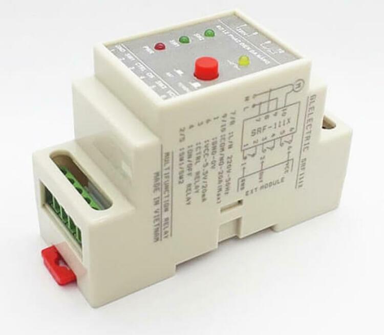 Rơ le điều khiển đa năng, an toàn cho phao điện công suất cao của Glelectric (Việt Nam), có thể sử dụng với phao điện để điều khiển máy bơm nước hoặc kết hợp với các mô đun, cảm biến để điều khiển trong các ứng dụng khác như bật - tắt đèn tự động, điều khiển nhiệt độ - độ ẩm, điều khiển tưới tự động... Công suất chịu tải trực tiếp của rơ le lên đến 20A hoặc 1.5HP~1200W, điện áp hoạt động200 – 230V; 50/60Hz, kích thước dài 90, rộng 38, dày 60 cm. Sản phẩm có giá340.000 đồng