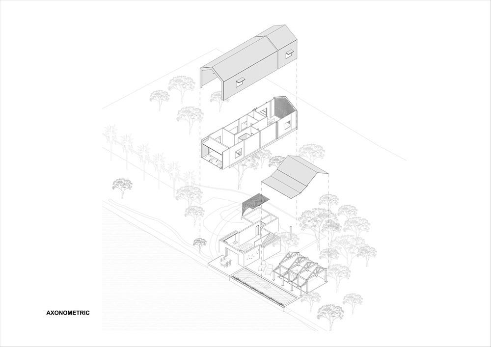 Mô hình kết cấu nhà.