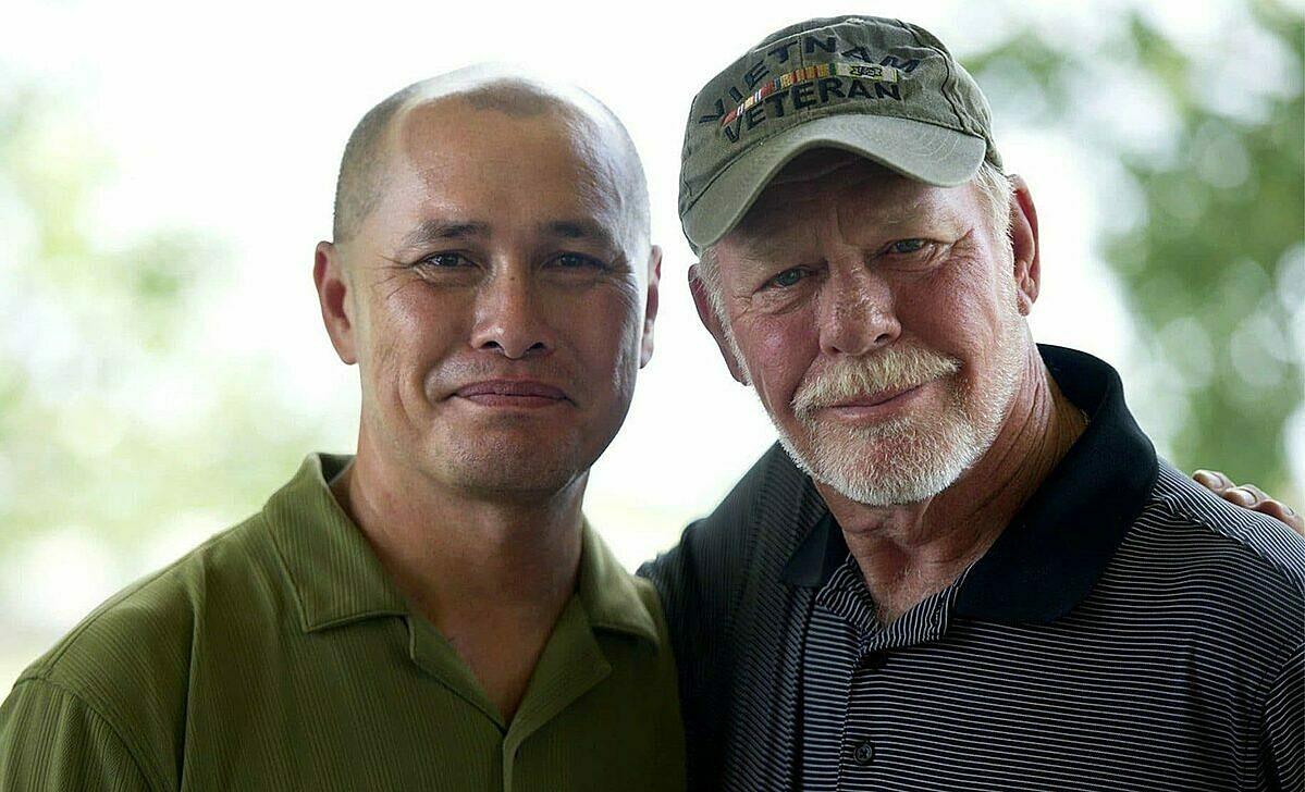 Andrew đoàn tụ với bố hôm 10/5, sau 48 năm không có tin tức về nhau. Ảnh: The Palm Beach Post.