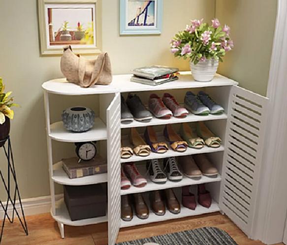 Tủ giày đa năng có kệ ig358 phong cách lịch lãm giá giảm 28% còn 934.000 đồng; kích thước cao 75,5 cm, rộng 94 cm, sâu 31 cm; chất liệu gỗ nhựa composite cao cấp; mô hình tháo lắp ráp; trọng lượng 8 kg; màu sắc trắng ngà tự nhiên.
