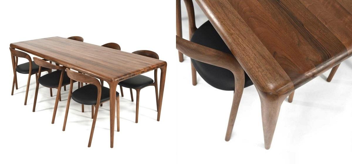 Bộ bàn ăn Latus Neva 6 ghế sang trọng với tông màu gỗ sồi nâu đậm. Thiết kế mang phong cách Hàn Quốc với các góc bàn, chân bàn, chân ghế, lưng tựa... đều được bo tròn tinh tế, phù hợp với những căn hộ chung cư hiện đại lẫn cổ điện. Nệm ghế tối màu cùng tone là lựa chọn lý tưởng cho gia đình có trẻ em. Chất liệu gỗ óc chó đã qua chế biến giúp chống cong vênh, mối mọt, thẩm mỹ và có độ bền cao. Sản phẩm hiện có giá ưu đãi đến 46% trên Shop VnExpress, giảm còn 14,19 triệu đồng (giá gốc 26,29 triệu đồng).