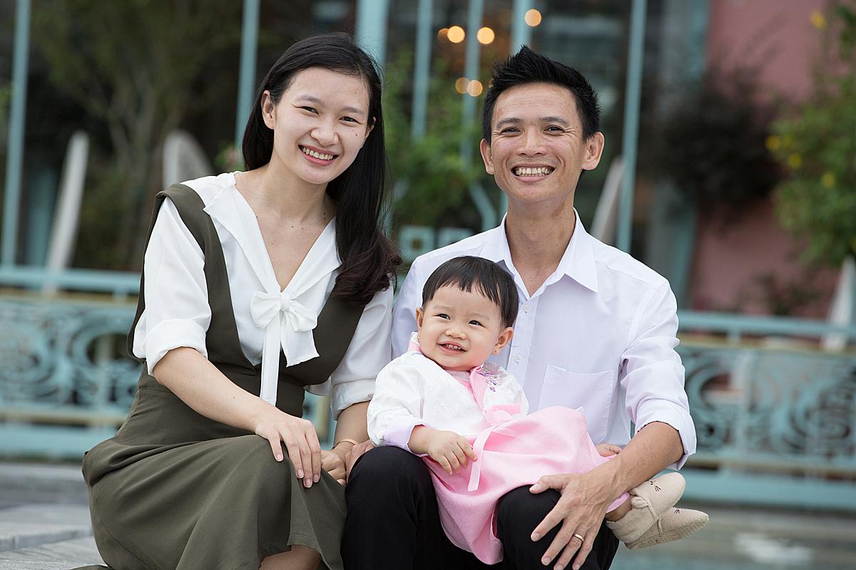 Gia đình nhỏ của Nguyễn Thanh Đàm. Ảnh: Nhân vật cung cấp.