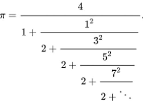 Ví dụ về liên phân số. Ảnh: The Conversation.
