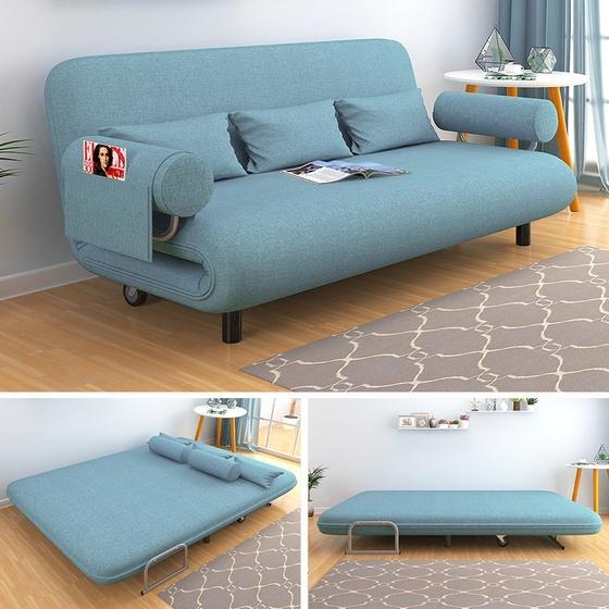 Ghế Sofa giường nằm đa năng Kachi MK191 - màu xanh dương giảm 33% còn 3,999 triệu đồng; chuyên dùng cho những căn hộ có không gian có diện tích khiêm tốn, như các căn chung cư hay nhà phố nhỏ hiện nay.