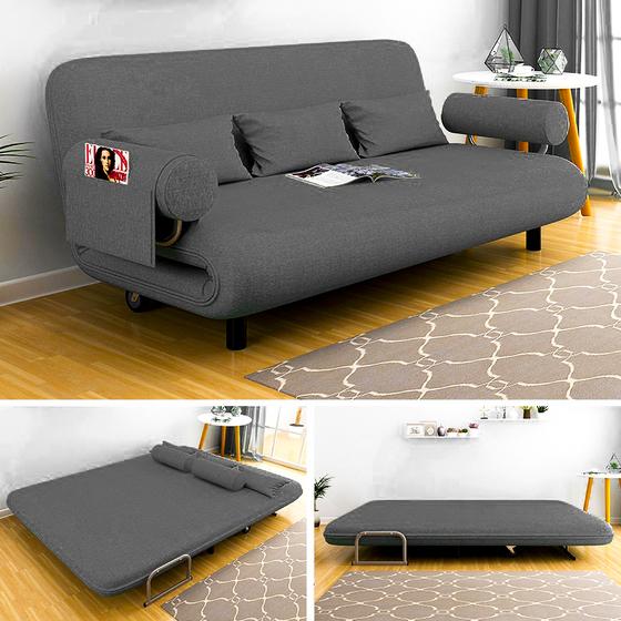 Ghế sofa giường nằm đa năng Kachi MK191 - màu xám giảm 33% còn 3,999 triệu đồng; khung giường thép được thiết kế chắc chắn chịu được sức nặng. Sản phẩm kết hợp 3 chức năng chỉ với vài thao tác nhỏ là có ngay ghế ngồi, tựa, nằm. Đây là dòng sản phẩm đa năng giúp tiết kiệm không gian, thiết kế lạ mắt với nhiều kiểu dáng và màu sắc thích hợp cho các ngôi nhà diện tích từ nhỏ đến rộng rãi, mang lại không gian sang trọng cho căn nhà.