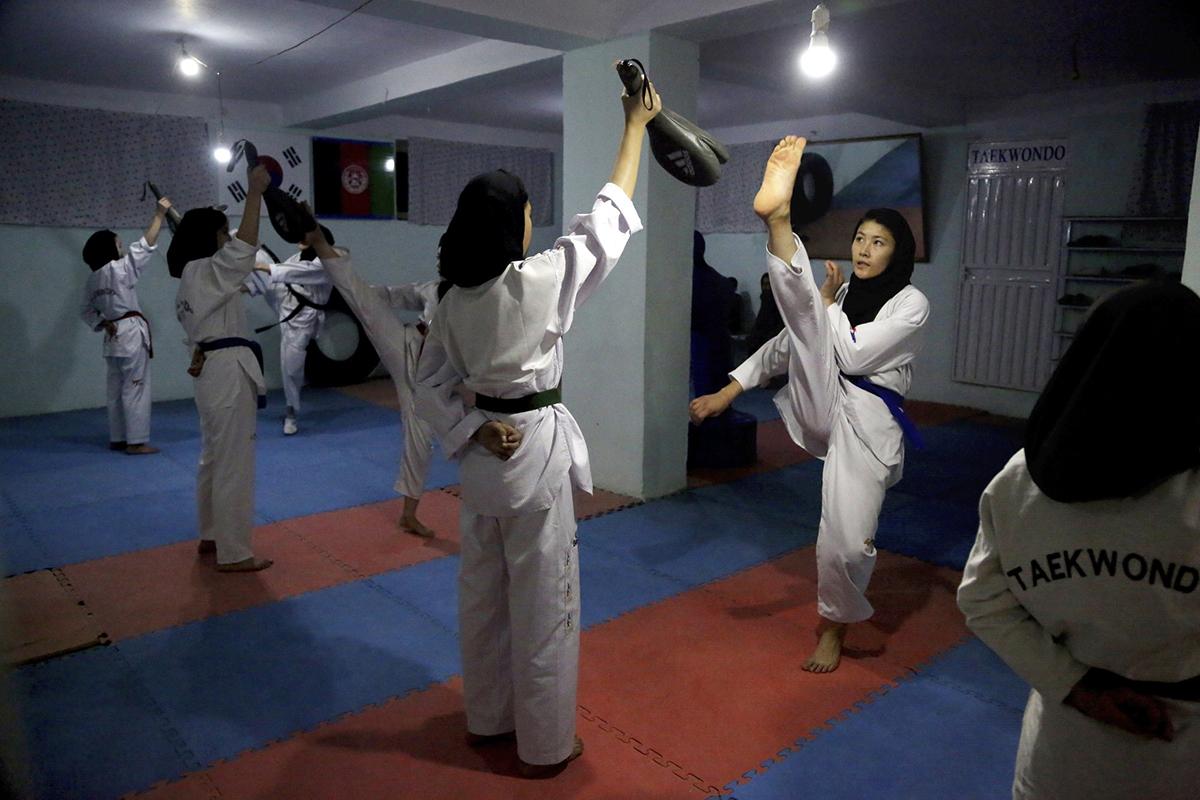 Một câu lạc bộ Teakwondo ở Kabul. Ảnh: AP.
