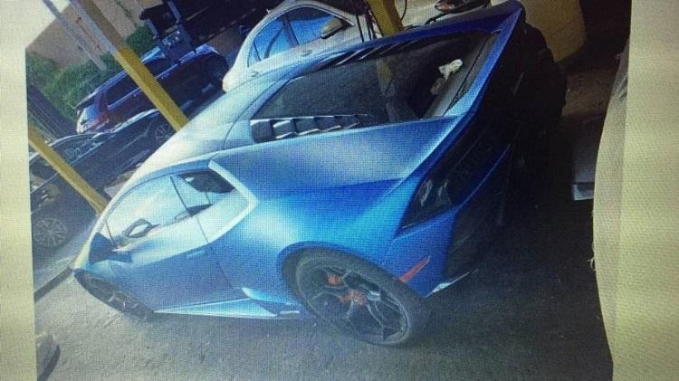 Chiếc xe Lamborghini của Hines bị tịch thu sau khi chủ nhân lừa đảo tiền cứu trợ Covid-19 để mua. Ảnh: Văn phòng luật sư Hoa Kỳ.