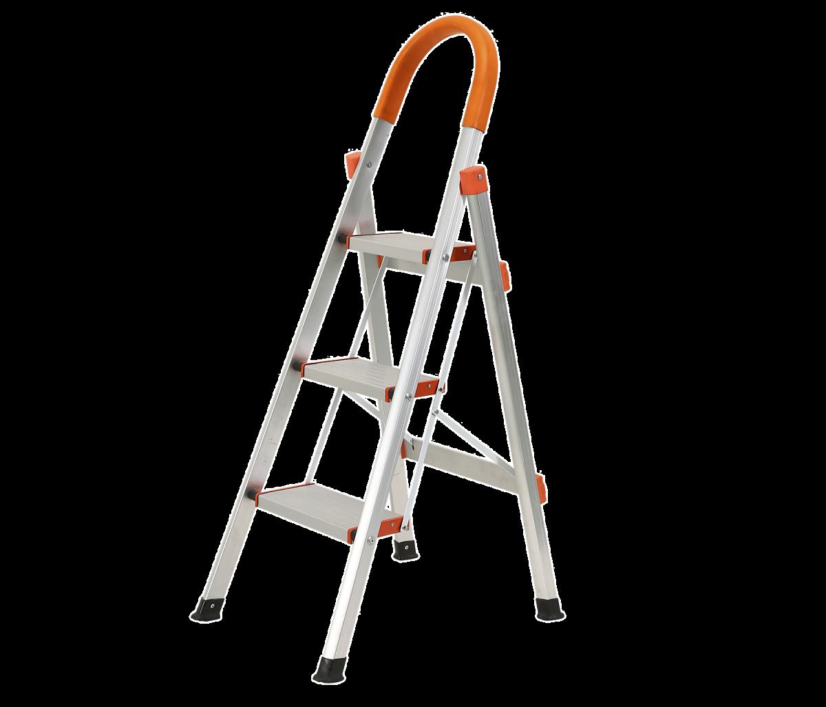 Thang nhôm gấp Kachi MK-148 xuất xứ Trung Quốc, gồm 3 bậc, phù hợp sử dụng cho gia đình, văn phòng hay công trình. Thang nặng 3,1 kg và chịu được tải trọng đến 150 kg. Mỗi bậc thang rộng 14 x 26 cm, đặt được toàn bàn chân. Khoảng cách giữa mỗi bậc thang là 25 cm, mang lại cảm giác thoải mái khi bước lên. Chân thang có đệm cao su chống trượt, trầy xước nền nhà. Phần tay vịn được bọc nhựa tránh trơn trượt. Ngoài công dụng chính dùng để trèo lên cao thì thang còn có thể làm vật trang trí, bày đồ phía trên. Sản phẩm đang được bán với giá 799.000 đồng.