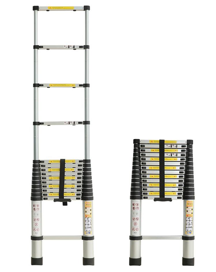 Thang xếp đơn 14 bậc Ameca AMD-440 có chiều dài tối đa là 4,4 m, chiều dài rút gọn là 0,81 m, tải trọng 150 kg Thang nặng 12,6 kg, kích thước gọn nhẹ nên dễ dàng mang vác khi di chuyển, có thể xách bằng 1 tay, để sau xe máy hoặc để vào cốp xe ô tô. Thang làm từ chất liệu nhôm, được bổ sung các đai nhựa chống va đập và chốt khóa linh hoạt, dễ sử dụng. Phần chân thang được thiết kế bằng cao su tạo độ bám, đảm bảo an toàn cho người sử dụng. Sản phẩm đang đươc bán với giá ưu đãi là 1,55 triệu đồng.