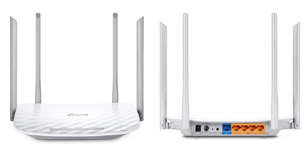 Thiết bị phát wifi TP-LINK Archer C50 giảm 12%, còn 615.000 đồng (giá gốc 699.000 đồng). Sản phẩm  trang bị router băng tần kép wifi AC1200, Archer C50, kết nối đồng thời ở hai băng tần 2.4GHz (tốc độ 300 Mbps) và 5GHz (867 Mbps) cho tổng băng thông khả dụng lên đến 1.2 Gbps. 4 ăng ten kép gắn ngoài giúp kết nối wifi ổng định và vùng phủ rộng lớn. Người dùng có thể dễ dàng quản lý hệ thống mạng với ứng dụng Tether của TP-Link.