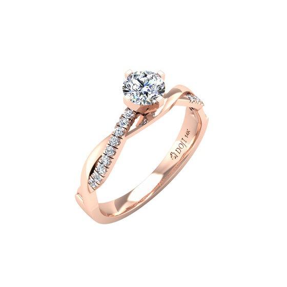 Nhẫn vàng hồng 14K DOJI 0320R-LAL033 hiện có giá ưu đãi 30% trên Shop VnExpress, giảm còn 2,387 triệu đồng (giá gốc 3,41 triệu đồng). Nhẫn được đính đá SWA cao cấp với khối lượng 1,011 carat. Thiết kế mềm mại, nữ tính với hai đường xoắn vào nhau cùng điểm nhấn ở giữa là viên đá SWA sáng