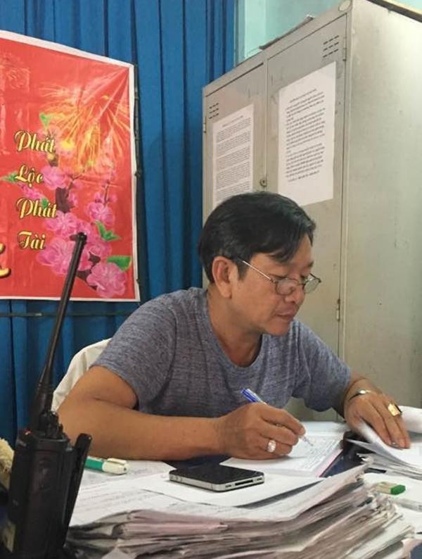 Ông Lũy là tổ trưởng Tổ bảo vệ dân phố khu phố 2, phường Hiệp Bình Phước 11 năm nay. Ảnh: Nhân vật cung cấp.