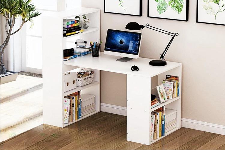 Bàn làm việc, bàn máy tính gp04 thanh lịch - trắng giảm 46% còn 910.000 triệu đồng; làm từ chất liệu gỗ MDF phủ melamin; nặng 39 kg; bàn dài 1,2 m, rộng 55 cm, cao 74 cm.