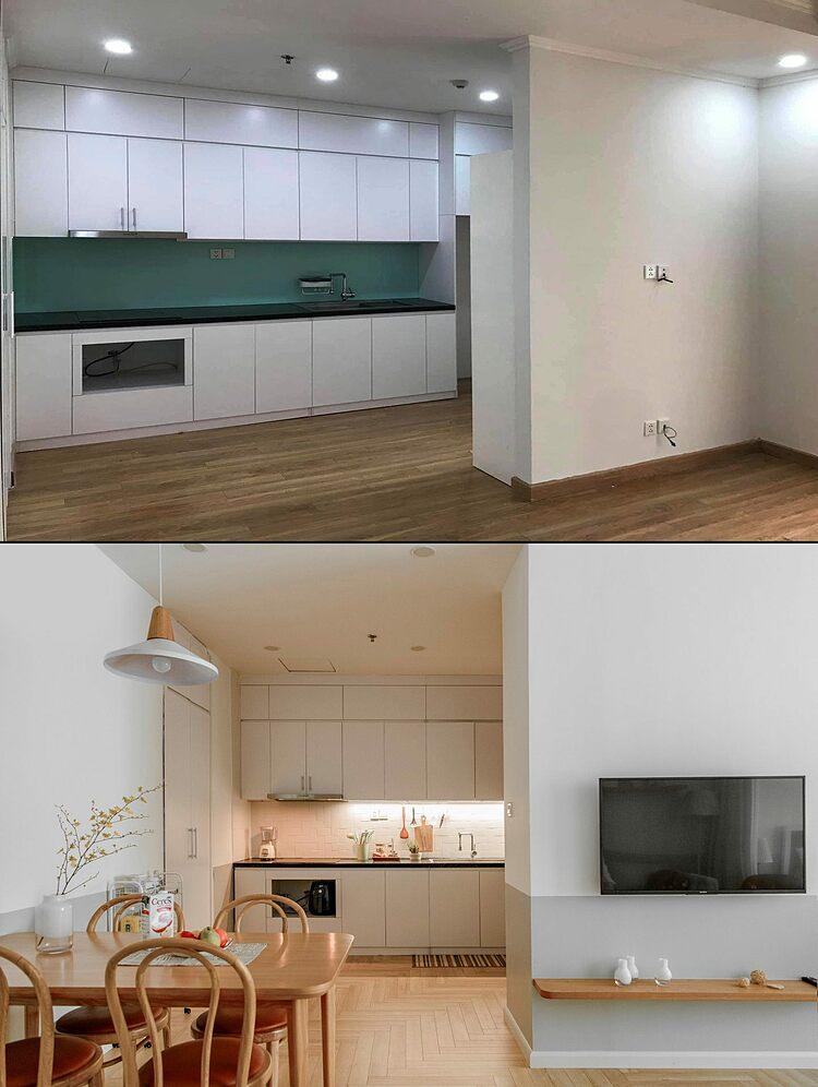 Khu vực bếp hầu như được giữ nguyên. Ảnh: MUST Design.