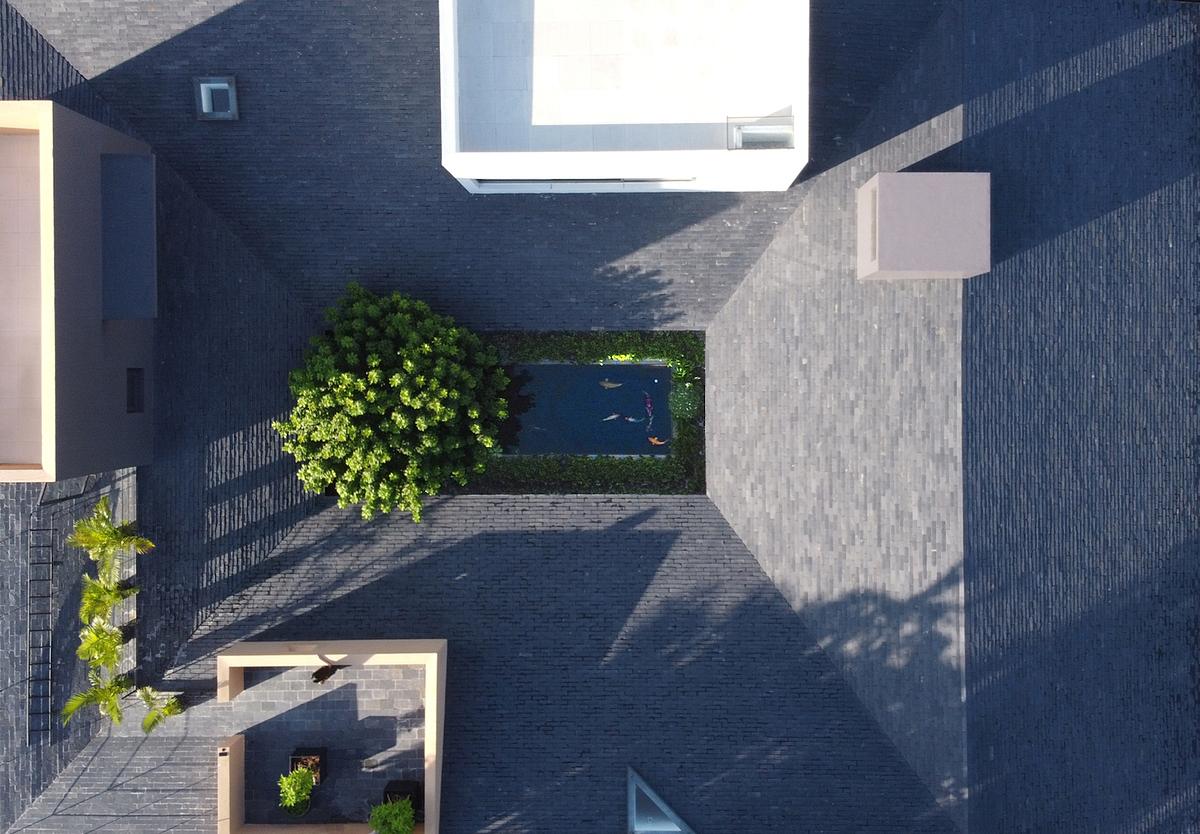 Ngôi nhà nhìn từ trên cao. Ảnh: TAA Design.