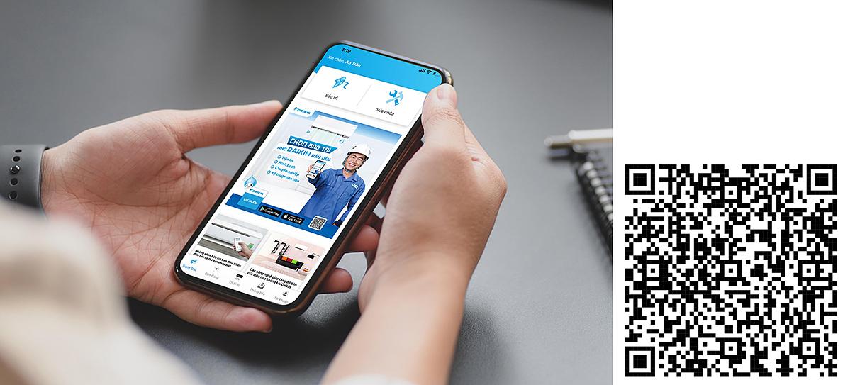 Người tiêu dùng có thể dễ dàng tải ứng dụng qua quét mã QR. Từ ngày 15 đến 30/9, 40 người đầu tiên sử dụng dịch vụ bào trì qua ứng dụng sẽ được giảm giá 25% và tặng kèm phin lọc, 100 khách tiếp theo được giảm giá 25% và tặng kèm áo mưa, 60 khách tiếp theo được giảm giá 25%. Tải ứng dụng tại đây  Dịch vụ này hiện triển khai tại TP HCM và Hà Nội.